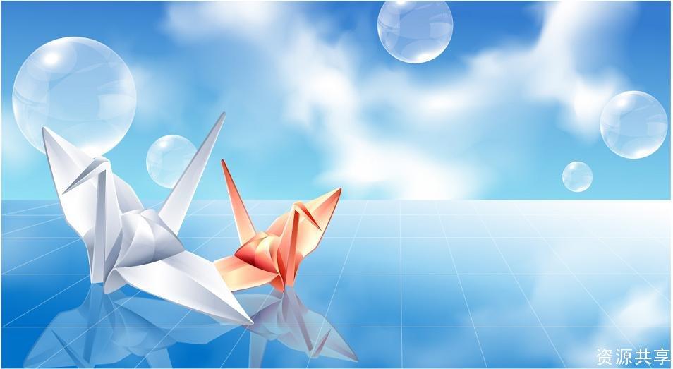 图片素材-纸鸽动画效果