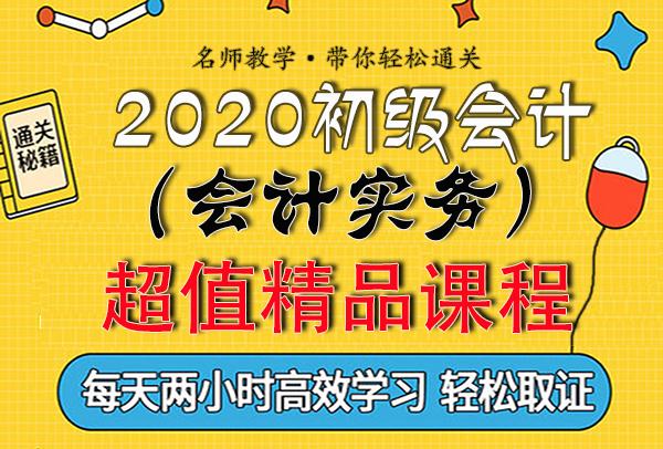 2020初级会计师视频课程【实务】押题班